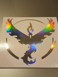 Neo Chrome Team Valor Symbol Window Vinyl Decal Sticker Pokemon Pokemon Go Ebay