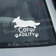 Jump Over Cardigan Welsh Corgi Agility Decal Sew Dog Crazy