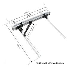Item Rf800 Diy Sliding Rip Fence System For Circular Saw And Router Table Chansen Industries Co Ltd