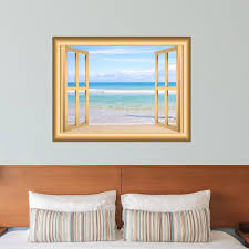 Beach Scene Window Frame Peel And Stick Wall Decal
