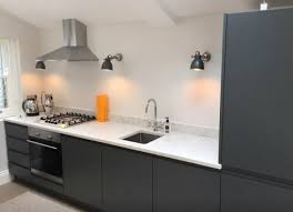 grey handleless kitchen by just