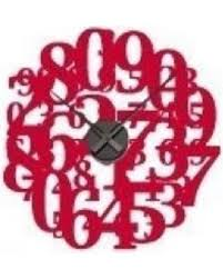 Get The Deal 35 Off Style And Apply Crazy Numbers Wall Clock Wall Decal Saap1492 Color Dark Red