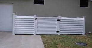 Horizontal Louver Vinyl Semi Privacy Fence Vinyl Fence Privacy Fence Fence