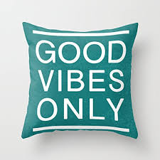 good vibes only quotes throw pillow case decorative pillow covers