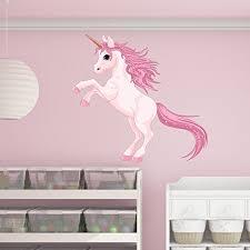 Pretty Pink Unicorn Wall Decal Wall Sticker Vinyl Wall Art Home Decor Wall Mural Sd3055 39x37 Walmart Com Walmart Com