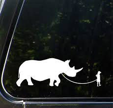The Decal Store Com By Yadda Yadda Design Co Car Pet Rhinoceros Child With Rhino Vinyl Car Decal Sticker C Y