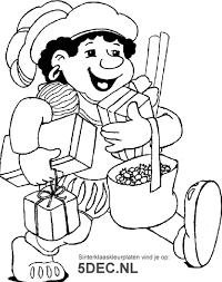 Sinterklaas Knutselen Sinterklaas Kleurplaten Zwarte Piet Met