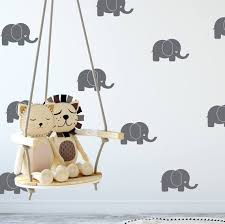 Baby Elephant Wall Decals Nursery Wall Stickers Baby Room Etsy
