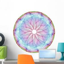 Colorful Mandala Wall Decal By Wallmonkeys Peel And Stick Graphic 24 In H X 24 In W Wm249906 Walmart Com Walmart Com