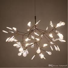 led chandelier luxury tree leaf modern