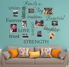 Amazon Com 7e Colours Family Wall Decal 12 Set Words Wall Stickers Family Room Art Decoration Living Room Decor Decoration For Home Decor Kitchen Dining