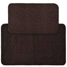 southwestern brown bath mats