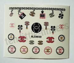 Nail Polish Nail Art Stickers Decals Wraps Hot Stylish Chanel Prada Nails Glitter Silver Polka Dots Bag Diy Decoration Manicure Pedicure Nail Accessories Elegant Louis Vuitton Nails Wheretoget