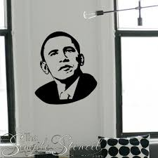 Obama Face Silhouette Large Wall Or Window Decal Wall Vinyl Decor Stencil Wall Art Wall Decals