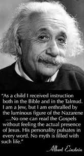 albert einstein glorified his saviour jesus christ einstein