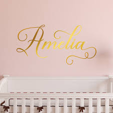 Personalized Wall Decal Girl Name Wall Decal Nursery Wall Etsy Personalized Wall Decals Name Wall Decals Nursery Wall Decals
