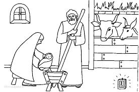 1001 Kleurplaten Kerst Jezus Kleurplaat Jezus Maria En Jozef