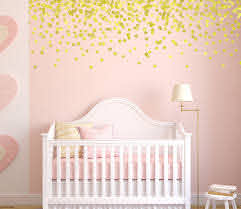Gold Polka Dot Wall Decals Pink And Gold Nursery Gold Decals Baby Nursery Wall Decor Gold Star Wall Decals Polka Dot Wall Decals