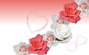 قلوب وورود جميلة