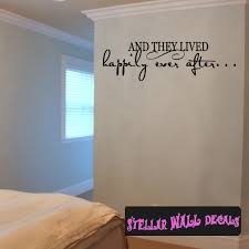 And They Lived Happily Ever After Family Wall Decals Wall Quotes Wall Murals F026 Swd