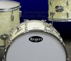 Rogers Oval Vintage Repro Logo Adhesive Vinyl Decal For Bass Drum Head Ebay