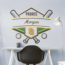San Diego Padres Personalized Name Officially Licensed Mlb Transfer Decal