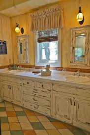 painting distressed bathroom cabinets