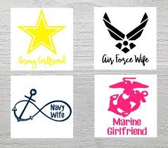 Air Force Army Marine Navy Decal Military Wife Etsy