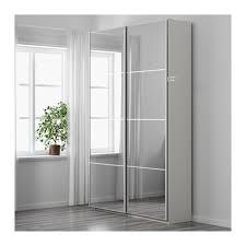 pax wardrobe white auli mirror glass