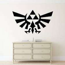 The Legend Of Zelda Wall Decal Triforce Vinyl Sticker Video Etsy