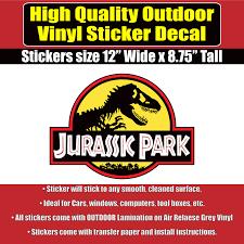 Jurassic Park Movie Jeep Vinyl Car Window Laptop Bumper Sticker Decal Ebay
