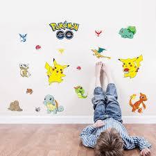 Pokemon Pikachu 3d Wall Sticker Vinyl Decals Kids Child Room Decoration Home Garden Decor Decals Stickers Vinyl Art Ayianapatriathlon Com