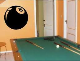 8 Ball Billiards Pool Bar Vinyl Wall Art Decal Decals Graphic Stickers Mural Ebay