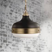 wide antique brass mini pendant light