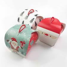 10 cái Phim Hoạt Hình Santa Claus Hộp Túi Xách Bánh Giáng Sinh Kẹo Hộp Trẻ  Em Xmas Giấy Nguồn Cung Cấp Bên Quà Tặng Trọn Gói cho Khách Hàng - gói