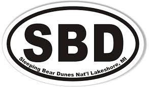 Sbd Sleeping Bear Dunes Oval Bumper Sticker Stickercafe Com