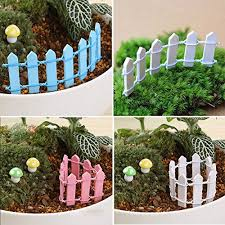 Coffee Ounona Miniature Garden Fence Wooden Picket Fence Border Bonsai Fairy Garden Decoration Ornament