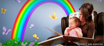 Over The Rainbow Fabric Wall Decals Istickup Wall Stickers Istickup