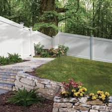 75 Fence Designs Styles Patterns Tops Materials And Ideas Fence Landscaping White Vinyl Fence Backyard Fences