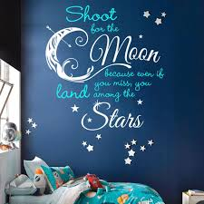 Shoot For Moon Land Among Stars Quote Decal 1 Color Dana Decals Star Quotes Create Your Own Quotes Vinyl Wall Decals Bedroom