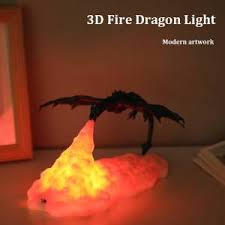 Best Discount 935f 3d Printed Led Fire Dragon Lamps Night Light Rechargeable Mood Soft Light For Bedroom Kids Room Bedroom Camping Decoration Light Cicig Co