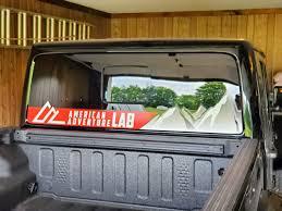 Jeep Gladiator Rear Lower Window Decal American Adventure Lab