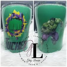 Green Hulk Smash Tumbler Geez Louise O O
