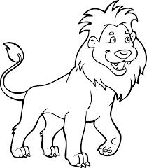 Tranh tô màu hình con sư tử mạnh mẽ, đáng yêu cho bé