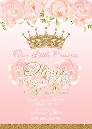 Princesa Cumpleanos Invitacion Invitacion Princesa Rosa Y E