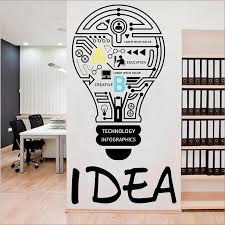 Good Idea Corporate Company Culture Wall Sticker Creative Quotes Vinyl Wall Decal Kids Study Room Decor Home Decoration B92 Wall Stickers Aliexpress