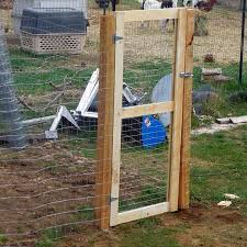 How To Put Up A Fence And Build A Gate Building A Gate Chicken Wire Fence Chicken Fence