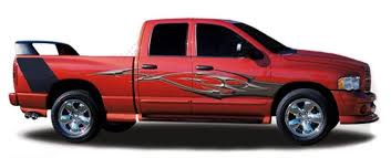 Deuce Automotive Vinyl Graphics And Decals Kit Shown On Dodge Ram 1500 Moproauto Professional Vinyl Graphics And Striping