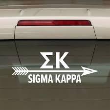 Sigma Kappa Decal Sorority Arrow Brit And Bee