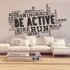 Fitness Be Active Word Cloud Vinyl Wall Art Decal
